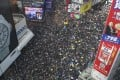 A sea of protesters on Hennessy Road, Causeway Bay, on July 21. Photo: Sam Tsang