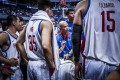Philippines coach Yeng Guiao gives instructions against Kazakhstan during their World Cup qualifier. Photo: Fiba