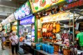 Hawker centres in Singapore house rows of stalls selling cheap and delicious food from Southeast Asia. Photo: Alamy