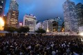 Thousands attend a protest called by medical professionals in Hong Kong on Friday, the latest show of opposition to an extradition bill that evolved into a wider movement for democratic reforms. Photo: AFP