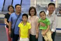 Lawyer Chen Jiangang (second from left) and his family have fled China for the United States. Photo: Twitter