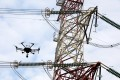A drone inspects CLP electricity pylons in Siu Hong, Tuen Mun. Photo: Nora Tam