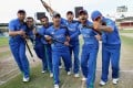 Afghanistan's national cricket team in 2015, led by then captain Mohammad Nabi. Photo: Khaama Press
