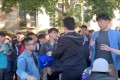 Hong Kong and mainland Chinese students clashed at the University of Queensland in Australia on Wednesday. Photo: Twitter