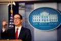US Treasury Secretary Steven Mnuchin at the White House. The Treasury Department's labelling of China as a currency manipulator for the first time since 1994 marked a significant escalation in the trade war and roiled global markets. Photo: Xinhua