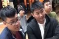 The mainland Chinese students who confronted Hong Kong-Kiwi student Serena Lee. Photo: YouTube