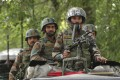 Indian army soldiers are seen in Indian-controlled Kashmir in July. Photo: AP