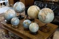 Globes on display at Bellerby and Co Globemakers' workshop and headquarters in Stoke Newington in north London. Photo: AFP
