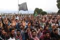 Kashmiri Muslims protest in Srinagar, India. Photo: EPA