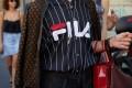 Fila sweatshirt at Milan Fashion Week in 2019. The streetwear craze has helped propel retro brands back into the spotlight. Photo: Shutterstock