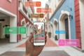 Augmented reality provides useful marketing information via the smartphone to shoppers and visitors.