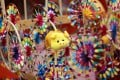 A windmill topped by a pig is on display at the Lunar New Year fair market at Victoria Park, Causeway Bay, on February 1. Predictions for Hong Kong's future are commonly made during the Lunar New Year festival. Photo: Dickson Lee