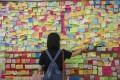 A 'Lennon Wall' in Tsuen Wan last month. Photo: Sam Tsang