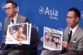 Hong Kong pro-democracy lawmakers Alvin Yeung (left) and Dennis Kwok in New York on Thursday. Photo: The Asia Society