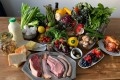 Some of the foods, including pork chops, roast chicken, blueberries and strawberries, mushrooms, asparagus and various cheeses found in the home of David Harper and his wife, Dale Drewery, co-authors of the how-to keto guide called BioDiet. Photo: David Harper/BioDiet