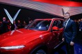 David Beckham at the VinFast launch at the Paris Motor Show. Photo: Getty Images