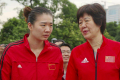 Disgraced China volleyball star Yang Fangxu (left) and national team coach Lang Ping. Photo: Handout