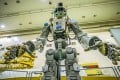 Russian humanoid robot Skybot F-850, or Fedor, being tested in July. Photo: AFP