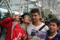 Brazilian footballer Elkeson (C) is greeted by fans on his arrival in China in 2013. Photo: Sina Weibo/Elkeson