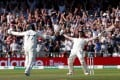 England's Ben Stokes lets out a roar as he seal the third test for England. Photo: Reuters