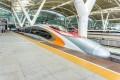 A high-speed train on the Guangzhou-Shenzhen-Hong Kong Express Rail Link stops at the South Railway Station in Guangzhou, capital of Guangdong province. Photo: Shutterstock