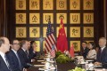 The last round of trade talks between the United States and China took place in Shanghai in July. Photo: AP