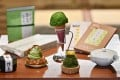 A selection of products made from matcha at a tea shop in Fujieda, Shizuoka prefecture, Japan. Producers of traditional Japanese green tea are turning to matcha to capitalise on a craze for it at home and abroad. Photo: AFP