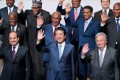 Japanese Prime Minister Shinzo Abe (centre) says his country will do all it can to encourage Japanese investment in Africa. Photo: EPA-EFE