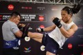 Zhang Weili at the UFC Shenzhen open workouts. Photos: Handout