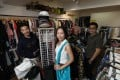 2Hand founders (from left) Leung Ka-weng, Connie Yong and Ernest Chan, at their Kwun Tong store. Photo: Xiaomei Chen