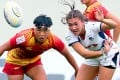 Hong Kong women's sevens team battle for silver in the Asia Rugby Sevens Series. Photos: Handout