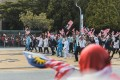 The procession for Malaysia's Merdeka Day parade walks by. Photo: Team Ceritalah