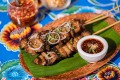 Sip Song's pork skewers are as tasty as the ones you would get from a Thai street vendor.