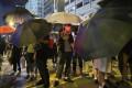 Protesters earlier block the Tsim Sha Tsui-bound lane of Nathan Road. Photo: Sam Tsang