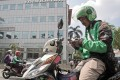 A Go-Jek motorcycle driver in Jakarta. Photo: Bloomberg