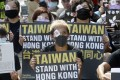 Taiwan says its refugee bill does not currently apply to Hong Kong protesters. Photo: AP