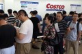 People line up to apply for membership cards at a Costco Wholesale store in Shanghai, China on August 31. Photo: EPA-EFE