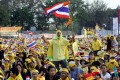 File photo of royalists and pro-junta supporters at a 2012 rally opposing former PM Thaksin Shinawatra in Bangkok. Photo: AP