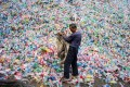 Chinese cities have begun separating their recyclable garbage through waste sorting policies, to ease the burden on landfill sites. Photo: AFP