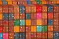 Shipping containers are stacked at the Port of Los Angeles in California. Investment bank CLSA thinks global trade could turn negative next year. Photo: Reuters
