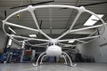A Volocopter 2X multirotor electric helicopter stands in a hangar at Volocopter's headquarters in Bruchsal, Germany. Photo: Bloomberg