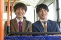 Jun Shison (left) and Kei Tanaka in a scene from Ossan's Love: Love or Dead (category: IIA, Japanese), directed by Toichiro Ruto. Shuko Ito and Kotaro Yoshida co-star.