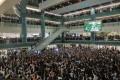 Protesters gather at New Town Plaza shopping mall in Sha Tin. Photo: Sam Tsang