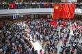 Pro-China activists appear at IFC, Central. Photo: May Tse