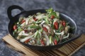 Susan Jung's fresh abalone with Chinese celery and bamboo shoots. Photography: Jonathan Wong. Styling: Nellie Ming Lee