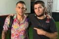 Dustin Poirier (left) poses with Khabib Nurmagomedov after their UFC 242 fight in Abu Dhabi. Photo: Instagram