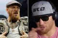 Conor McGregor (left) before his fight with Khabib Nurmagomedov in 2018, and Justin Gaethje after beating Donald Cerrone. Photo: AP/YouTube (ESPN MMA)
