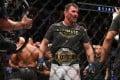Stipe Miocic celebrates his win over Daniel Cormier at UFC 241. Photo: AFP
