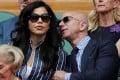 Jeff Bezos and Lauren Sanchez made their first public appearance following the billionaire's divorce at the men's Wimbledon finals. Photo: Reuters
