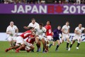England's Anthony Watson in action during their opening win against Tonga. Photo: Reuters